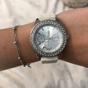 White and Silver Watch